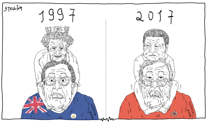 1997 V.S. 2017 20th anniversary of Hong Kong's return