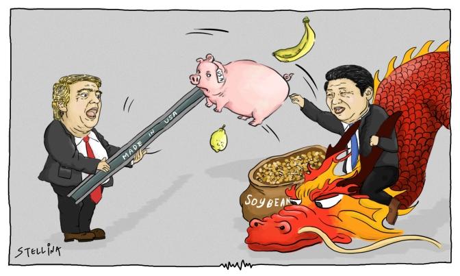 China and US Bare Trade War Teeth
