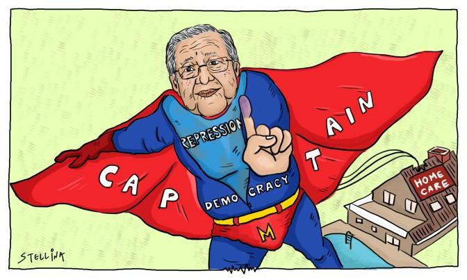 Captain Democracy Flies to Malaysia's Rescue